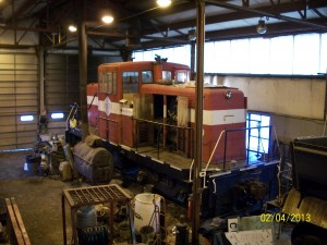 locomotive #2, 1955 GE 65 ton center cab