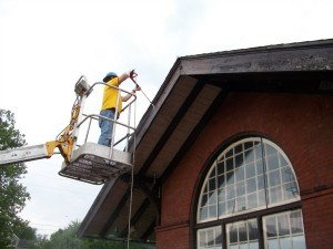 railroad station eaves