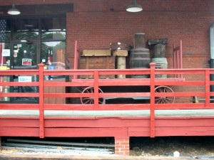 railroad station decking