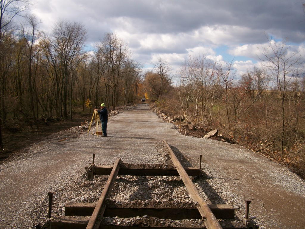 fixing railroad tracks