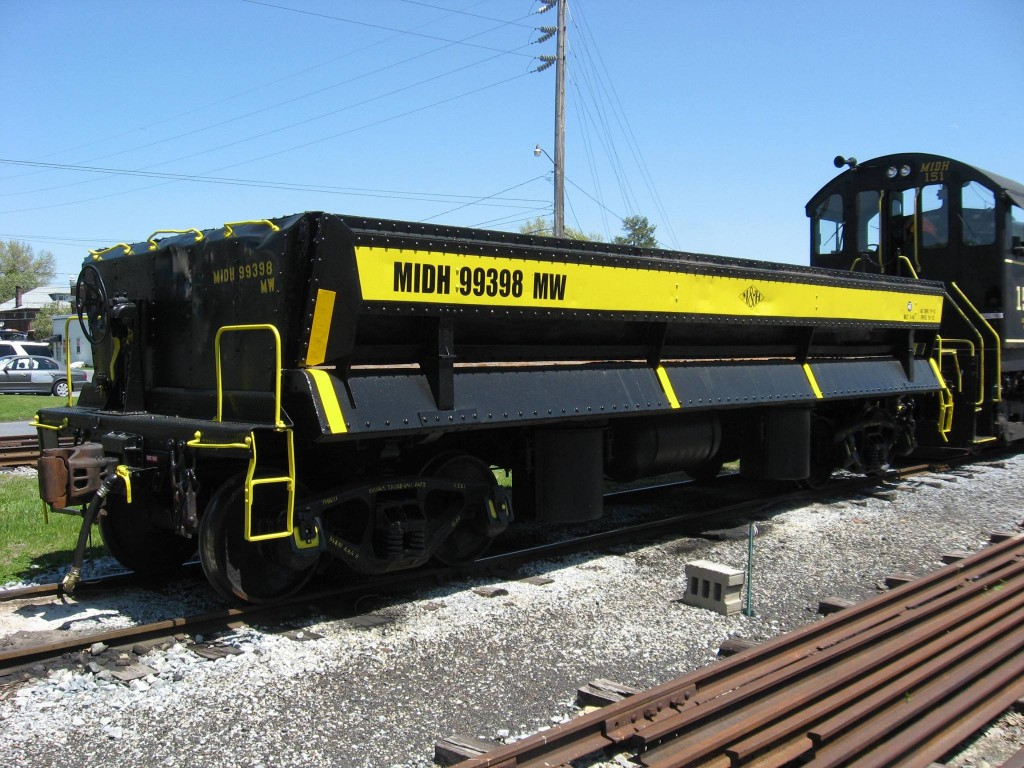 MHRailroad side dump car